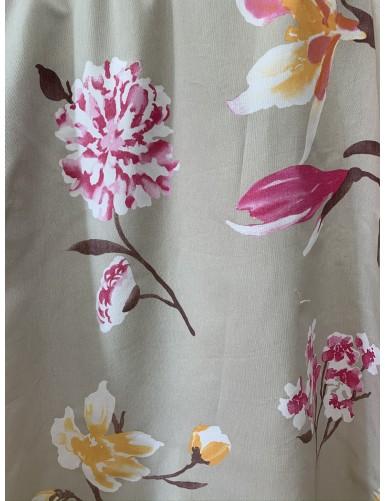 Памук с флорални мотиви FLORA