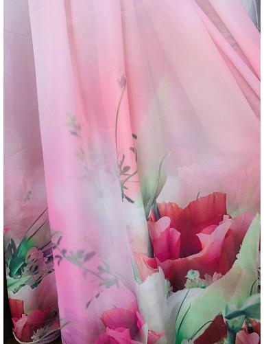 Креп с флорални мотиви ARIEL