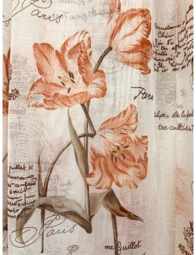 Лен с флорални мотиви LILIUM